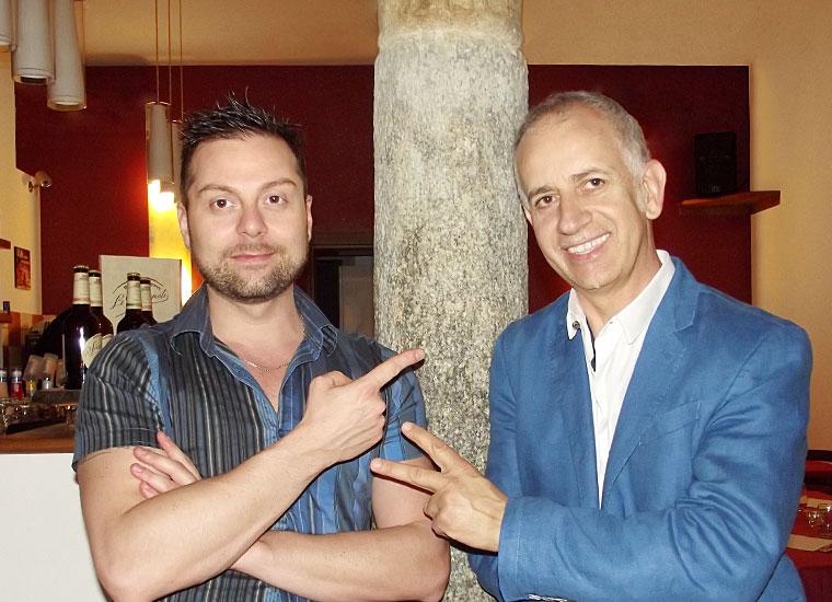 Alessandro Minelli e Pino Mallardo, titolari di Da Nicolas