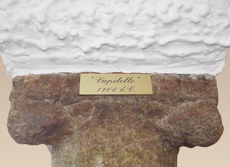 Capitello Anno 1706 (particolare)