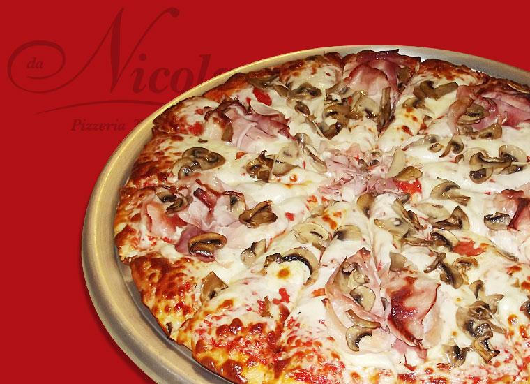 PIZZA AL TRANCIO TOP! Prosciutto & Funghi