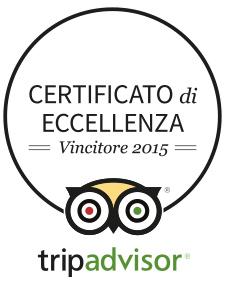 Certificato di Eccellenza - Vincitore 2015 - TripAdvisor